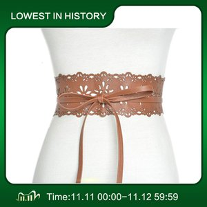 Lace del 2020 della nuova novità delle donne dell'annata cinghie larghe della cinghia elastica del corsetto nero Femmina Cincher del cinturino per Lady Accessori Dress