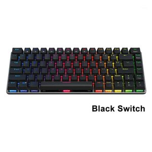 Gaming Keyboard Plug And Play Universal Detachable Ergonomic Ultra Slim USB Wired RGB Backlit 82 Keys Mechanical Portable1