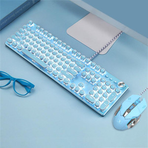 Fashionable LED Punks Backlit Professional Wired Mechanical Gaming Keyboard for PC Laptop Desktop Computer for Game Combos