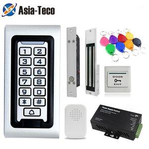 Retroilluminazione RFID Access Control Keypad Blocco elettrico Alimentazione elettrica 125KHz Stand da soli Sistema di controllo Accesso Accesso Kit impermeabile1