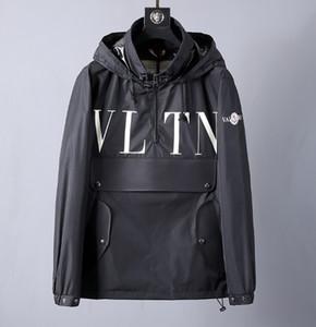 mens progettista lettera Valen giacca classica # 001 Europa Parigi off Stilisti Autunno Inverno di polvere casuale luxurys moda camice bianco frangivento bb