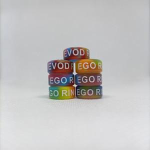 Ego Evod Silkprint Rings Silicone Vape Band 16*7*1.5mm Custom Logo Colorful For Ecigarette Tank Mod