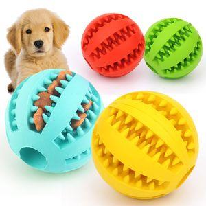 Pet giocattolo da masticare in silicone palla anguria cane giocattolo molare presa sulla palla resistenti denti puliti che perde palla cibo giocattolo gatto masticare w-00319