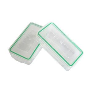 18650 Batteriebox Wasserdichtes Gehäuse Kunststoff Schutzlagerung Translucent Batteriehalter Aufbewahrungsbox für 18650 und 16340 Batterie DHL frei