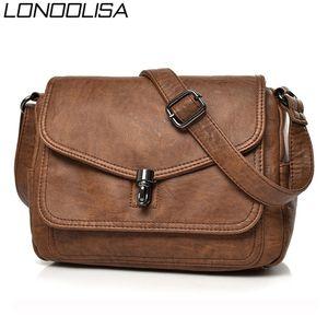 Vintage Soft Leather women shoulder Bags Luxury Handbags Women Bags Designer Small Crossbody Bags for Women Messenger Bag 201028