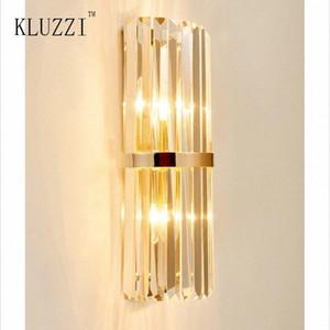 Kluzzi Simples Ouro Nórdico Ferro de cristal Lâmpada de parede Sala criativa decorativa Lâmpada de parede Corredor Quarto Corredor WjYX #