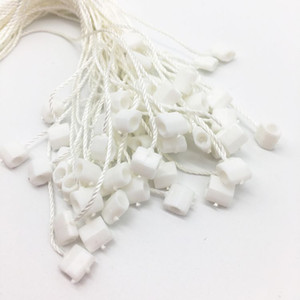 HangTag String Caugh Tag String Wholesale 250pcs Uso común Uso común Boleto Boleto Bloqueo de bloqueo de plástico para ropa