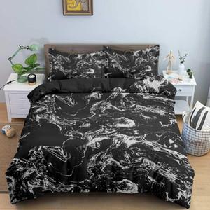 Set di biancheria da letto in marmo copripiumino