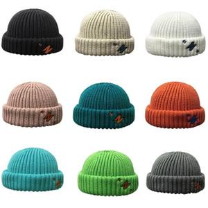 Unisex Winter Knit Beanie Hat Color Color Color Border Docker Skull Cap 50pf