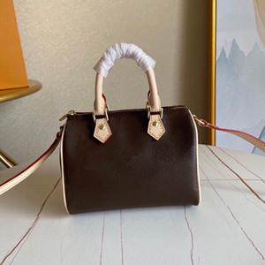 Мини-сумка, изготовленная из классического холста, кожаной отделкой, оно может быть выполнено вручную или плечо, Роскошная сумка, свободная перевозка, L019