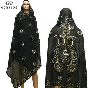100% Cotton Big Scarfs Nice Embroidery on the back Multifunctional Scarfs for African Women EC134 200930