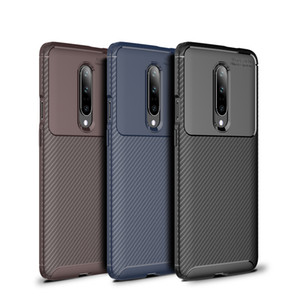 Ultra delgadas cajas de fibra de carbono para OnePlus 8 Nord 1 + Funda para el 1 + 1 + 7 7T caja del teléfono de pro 1 + 6T 8T protectora suave