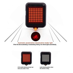 Cycling Smart Visual Warning Safety Light Bicycle Led Tail Light Bike Rear Lamp Usb Charge 80lumen Providing A Full Round Visual sqcGNs