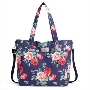 2020 Fashion Women Handbag Big Size Tote Ladies Casual Flower Printing Nylon Shoulder Messenger Bag Beach Bolsa Feminina