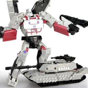 Robot car deformation toy boy children animation plastic ABS gray box military Figurine