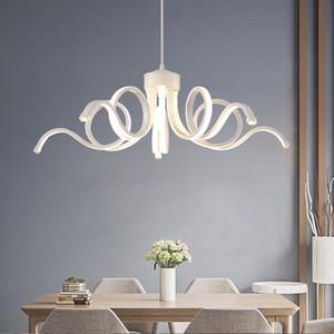 Современные люстры светодиодные Люстры Белый Lamparas De Techo Luminaria Light Avize Для Ресторан Кафе Столовая Промышленное освещение Главная Lumin