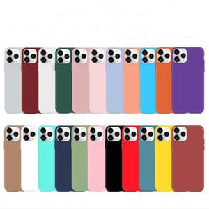 Ultra-fino Candy Color Matte Fosco Soft TPU Case Silicone Capas à Prova de Silicone Capa para telefone 12 mini 11 pro máx x xs xr 7 8 6 mais