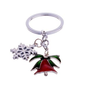 Cute Mini Christmas Tree Design Handbag Keychain Key Ring Decorative Car Key Chain Trinket Souvenir Christmas Gift Key Pendant jllXfJ