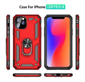 Hybrid Armor Cover For For Iphone 12 Pro Max XR X XS 8 7 Samsung Note 10 Pro A70 A20E A2 CORE A70 M30S HUAWEI P30 Magnetic Stand