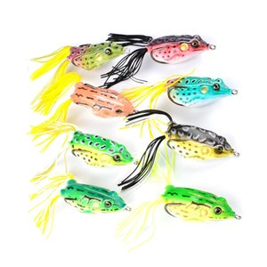 8 Color 6cm 13.42g Frog Hook Fishing Hooks Soft Baits & Lures LL_089