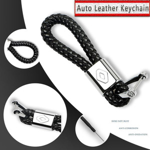 1Pcs Metal Braided Rope Leather Car Keychain Key Chain Key Rings For Renault Megane 2 Duster Logan Captur Clio Laguna 3 Fluence1