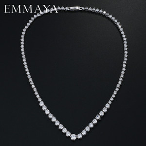EMMAYA zircons AAA Stunning Round CZ Cristal Colliers et luxe nuptiale Bijoux Parti pour le mariage 0927