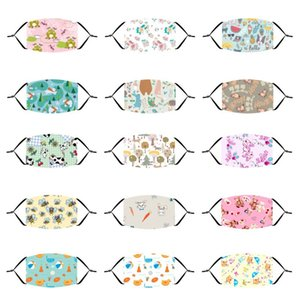 New cute animal cartoon printing dustproof and breathable independent packaging with filter children's cotton mask factory direct sales