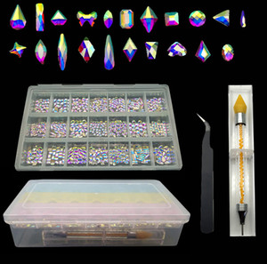 Newest Hot Sale Nail Art Rhinestones Set Wholesale Flatback Glass Crystals Nail Art Rhinestones For Decorations Design