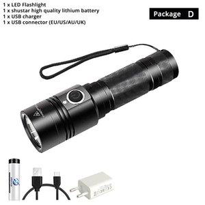 Usb Rechargeable Flashlight 4 Lighting Mode Super Bright Led Flashlight Use 18650 Battery For Night Lighting Camping Etc. sqcsua buy_home