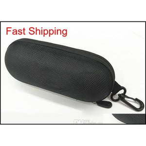 Hard Case Zipper Hook Man Sunglasses Box Compression Glasses Case Black Metal Plastic Sports Sun Glasses qylgru dh_seller2010