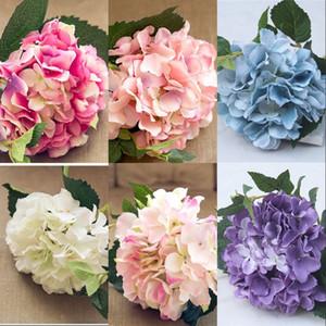 6 Colors Silk Flower 46cm Wedding Decorations Artificial Flowers Home Hotel Party Wedding Celebration 46cm Hydrangea Flower 5 4hz G2