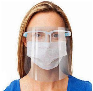 Clear Glasses Face Shield full face Plastic Protective Designer Mask Transparent Anti-fog face anti oil dust splash cooking cover 200pcs