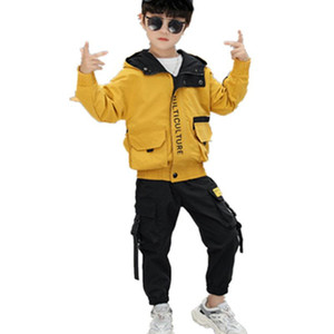 Toddler Boys Clothing Set Tracksuit Children Teens Clothing Set Casual Sports Suits Boys Hoodie Jacket Pants Clothes 3-13 Years