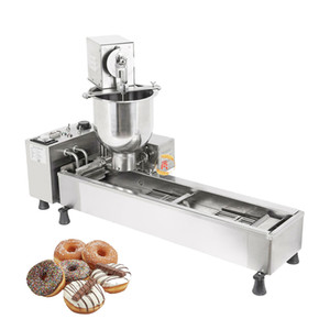 Free Shipping Commercial Stainless Steel 110v 220v Electric Automatic Doughnut Maker Donut Machine With 3 Nozzles Set