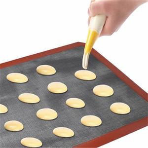 Печь для барбекю для барбекю Выпечки Высокотемпературное сопротивление Вентиляционное силиконовое печенье Коврик для печенья Коврики Grill Grill Mats Кухни Поставки 17 rd2 f2