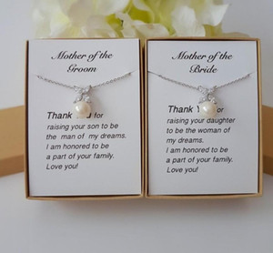 Custom wedding pearl Mother of The Bride earrings Mother of the Groom Necklace, Gift for MOM in law Stepmom jewelry Gift