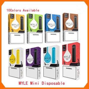 Newest Myle mini Disposable Vape Pen 280mAh Battery 1.2ml Pods Cartridges Pre-Filled e Cigs Device Vs Puff Bars Plus Flow Bang XXl
