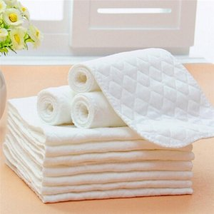 #30 5pcs 3 Layer Baby Diapers Bamboo Eco Cotton Diapers Nappy Baby Reusable Washable Diaper Pape 100% Cotton Inserts