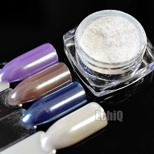 Diamond Pearl Mermaid Nail Art Powder Shining White Nails Glitter Dust UV Gel Manicure Tool Nail Art Pigment