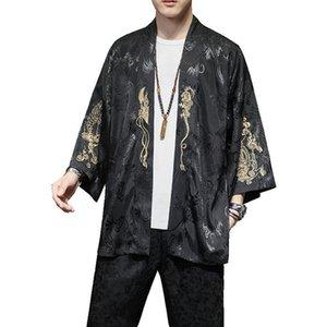 M-5XL Print Kimono Herren japanische Kimono Cardigan Harajuku Shirts Männer Streethawaiihemd 2020 New