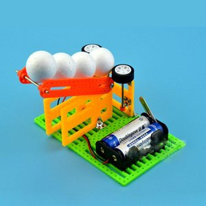 Child DIY Homemade Automatic Launch Ball Machine Children's Fun Science Toy Technology Small Production Materials