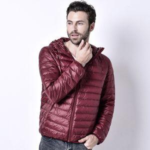 2020 Spring Autumn Light Down Jacket Men's Fashion Hooded Short Large Ultra-thin Lightweight Youth Slim Coat Clothing M-5xl,5186