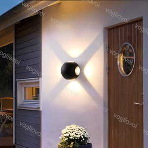 Outdoor Wall Lamps Modern Ball 12W 4pcs Source Up And Down IP65 Waterproof For Indoor Living-room Lighting Decoration Park Landscape DHL
