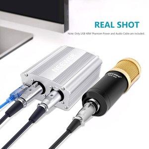 كابل Neewer 1-قناة 48V USB فانتوم التيار الكهربائي 5 أقدام USB XLR إلى XLR 3PIN ميكروفون الكابل لأي مكثف ميكروفون