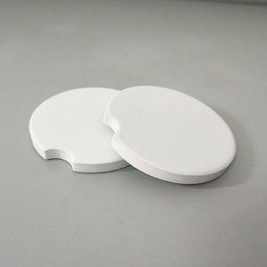 Automotive Blank Ceramic Creative Notch Mat White Cushion Coasters Teacup Home Decor Accessories 6.6*6.6cm DHD1499
