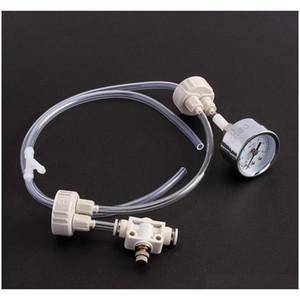 Aquarium DIY CO2 Generator System Kit con ajuste de flujo de aire de presión Ajuste de agua Tanque de peces Aquarium CO2 Válvula WPAX7
