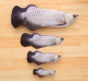 Fábrica atacado simulação de pelúcia peixe animal de estimação gato gato catnip engraçado gato vara gato boneca travesseiro mancha cabelo em linha reta