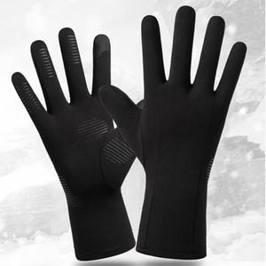 Black Outdoor Sports Warm Gloves Winter Men Women Riding Skiing Thermal Gloves Plus Velvet Windproof Non-slip Touch Screen Glove KKA1706