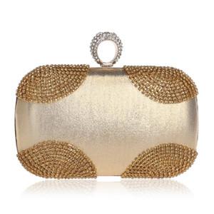 2020 mujeres de novia Nueva boda de un día al embrague con la cadena del hombro del mensajero de los bolsos de los diamantes dedo anular de diamantes bolso de tarde