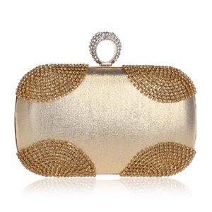 Pequeño con boda Cadena nupcial 2020 Día Bolsa Nuevas Mujeres Hombro Diamantes Tarde Diamonds Messenger Cluth Bolsos Anillo DTRQP